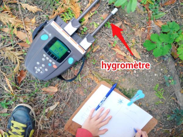 Mesure de l'humidité avec un hygromètre