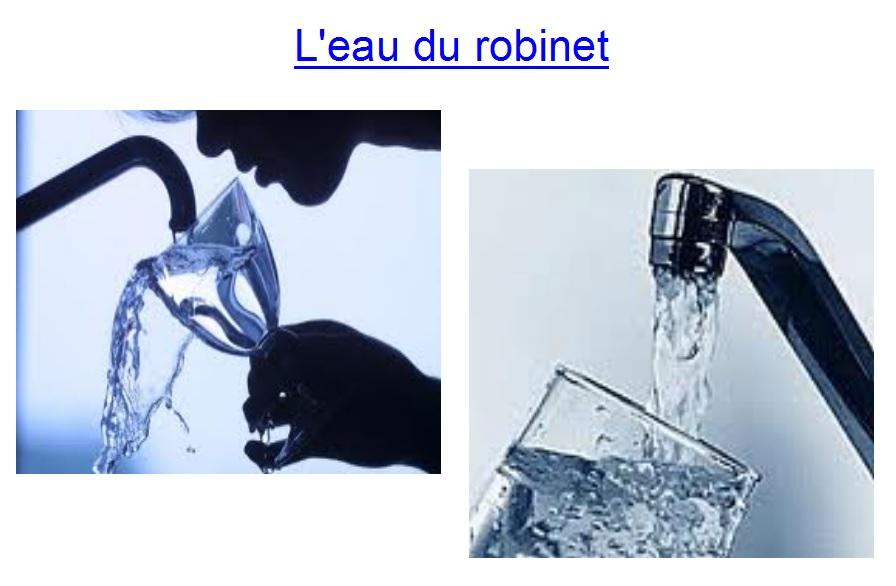 eau du robinet expo