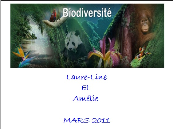 expose sur la biodiversite 3eme
