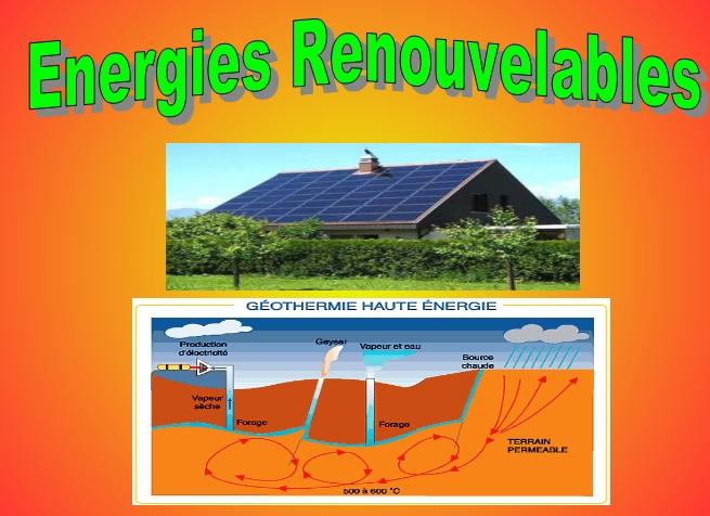 Energies renouvelables g othermie et solaire vive les for Salon energie renouvelable