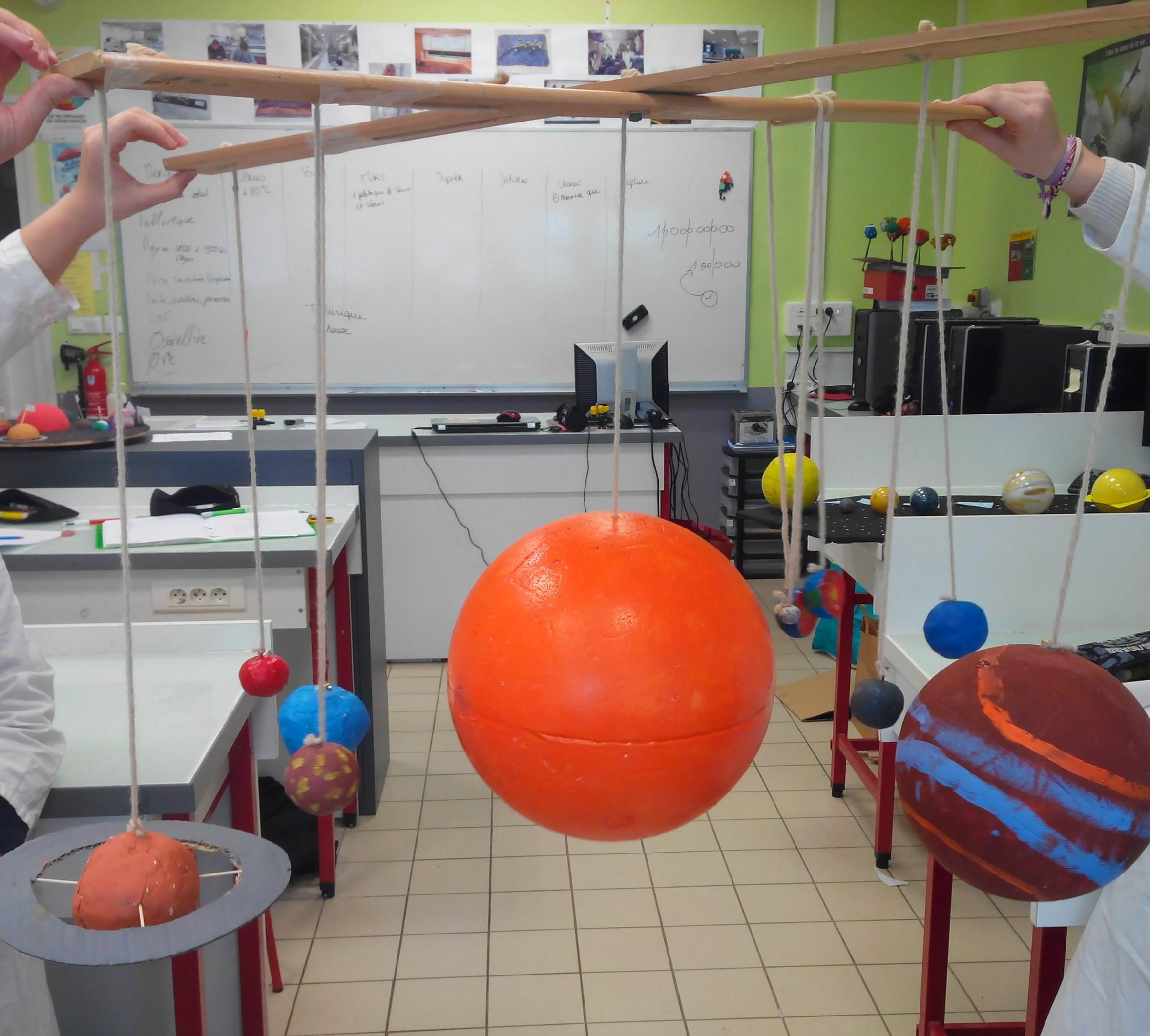 Modélisation du système solaire SVT 2nde (3)