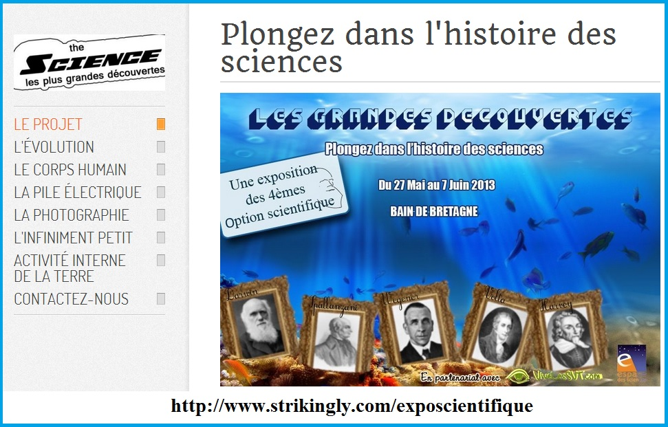 site internet exposition scientifique