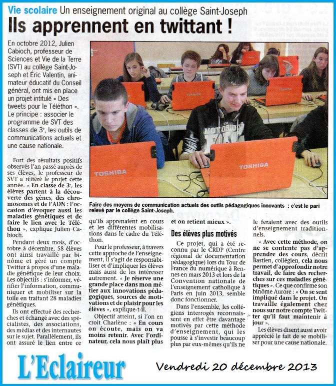 article éclaireur Twitter 2013