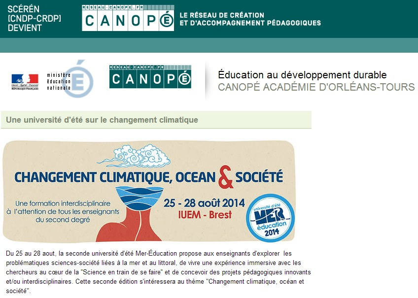 canopé mer education