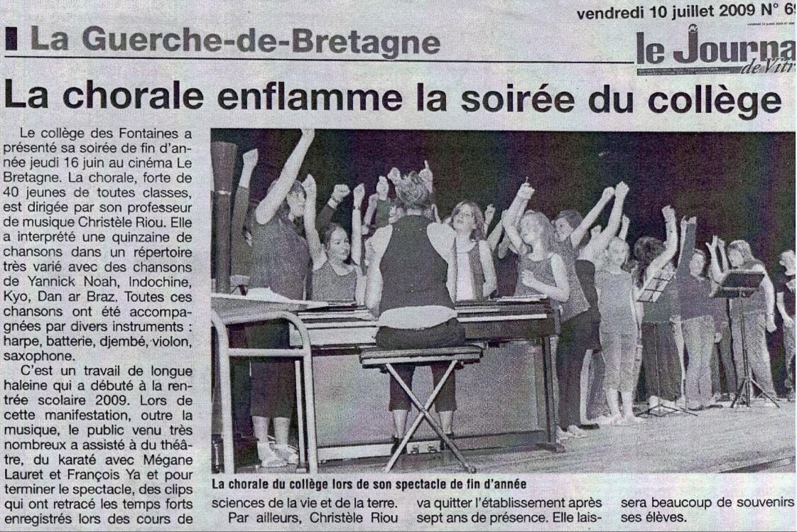 fete du collège des Fontaines La Guerche de Bretagne clips SVT