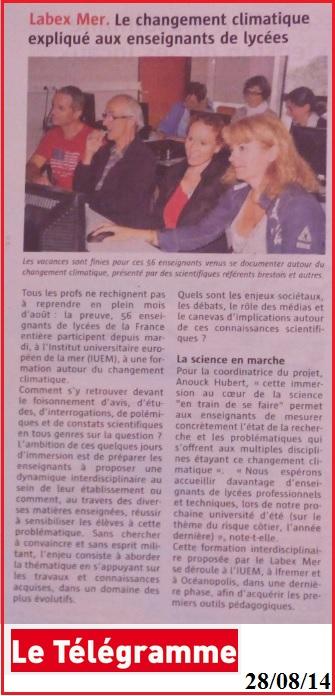 labex mer Mer Educ 2014 Le Télégramme