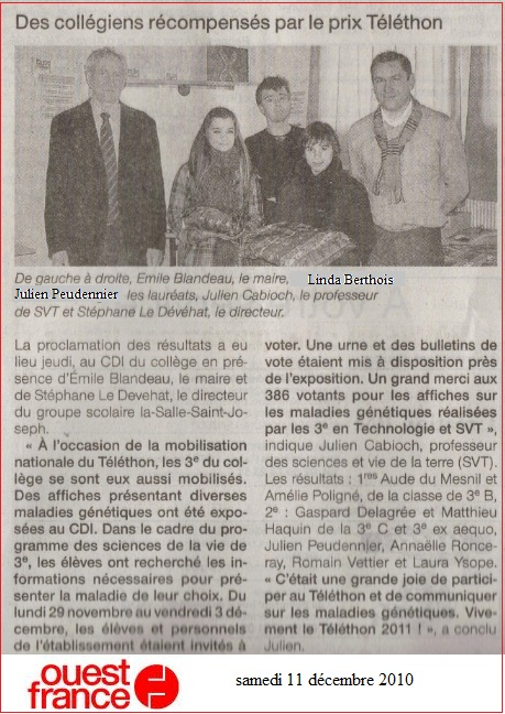 ouest france Téléthon 2010