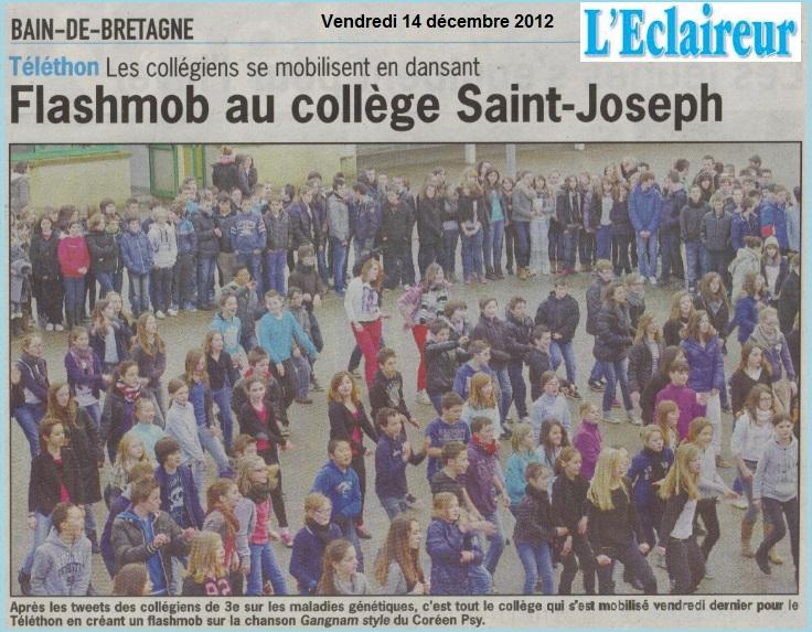 flashmob collège saint joseph