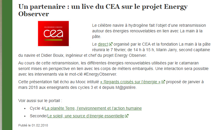 Live CEA SVT eduscol