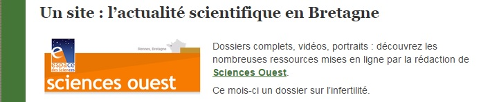 sciences ouest Bretagne