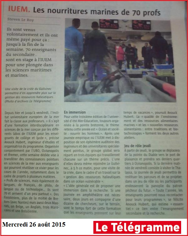iuem Article Mer Education 2015 université été