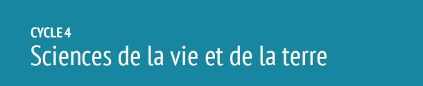 cycle 4 SVT nouveaux programmes collège 2016