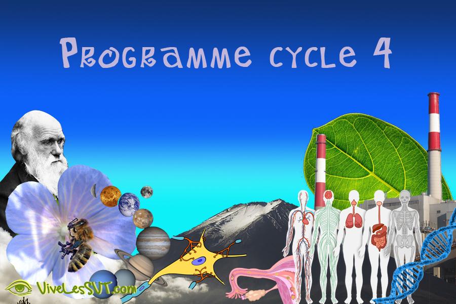 Nouveau programme SVT cycle 4 en 5ème 4ème 3ème