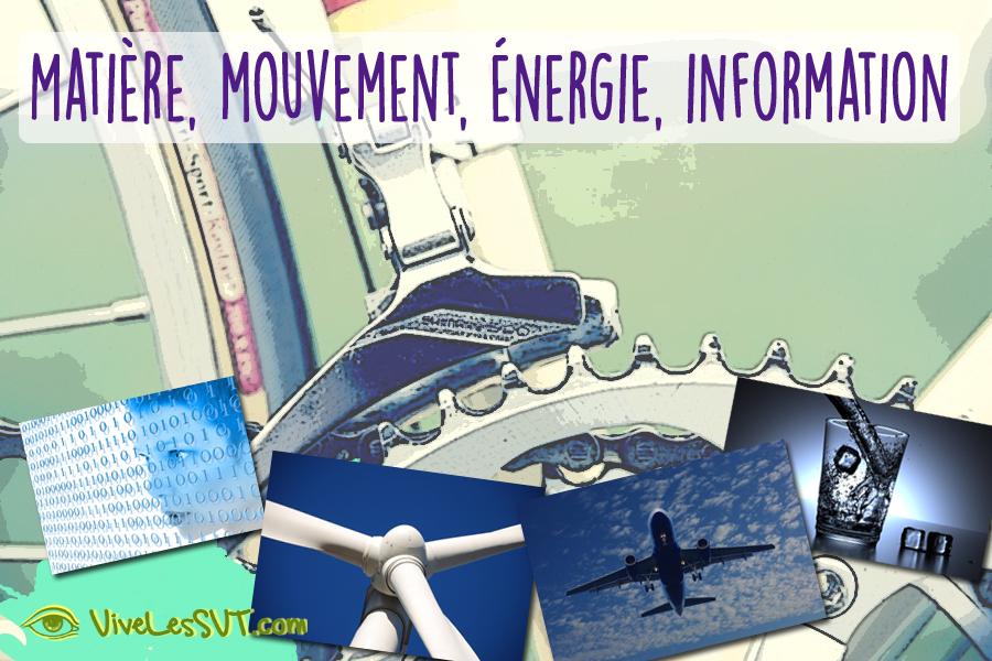 Matière, mouvement, énergie, information programme cycle 3