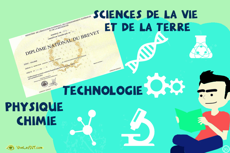 DNB Brevet épreuves de sciences de la vie et de la Terre SVT physique chimie technologie