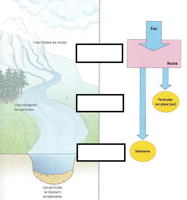 schéma bilan érosion transport sédimentation SVT géologie
