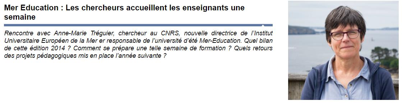 Mer education Anne Marie Tréguier CNRS
