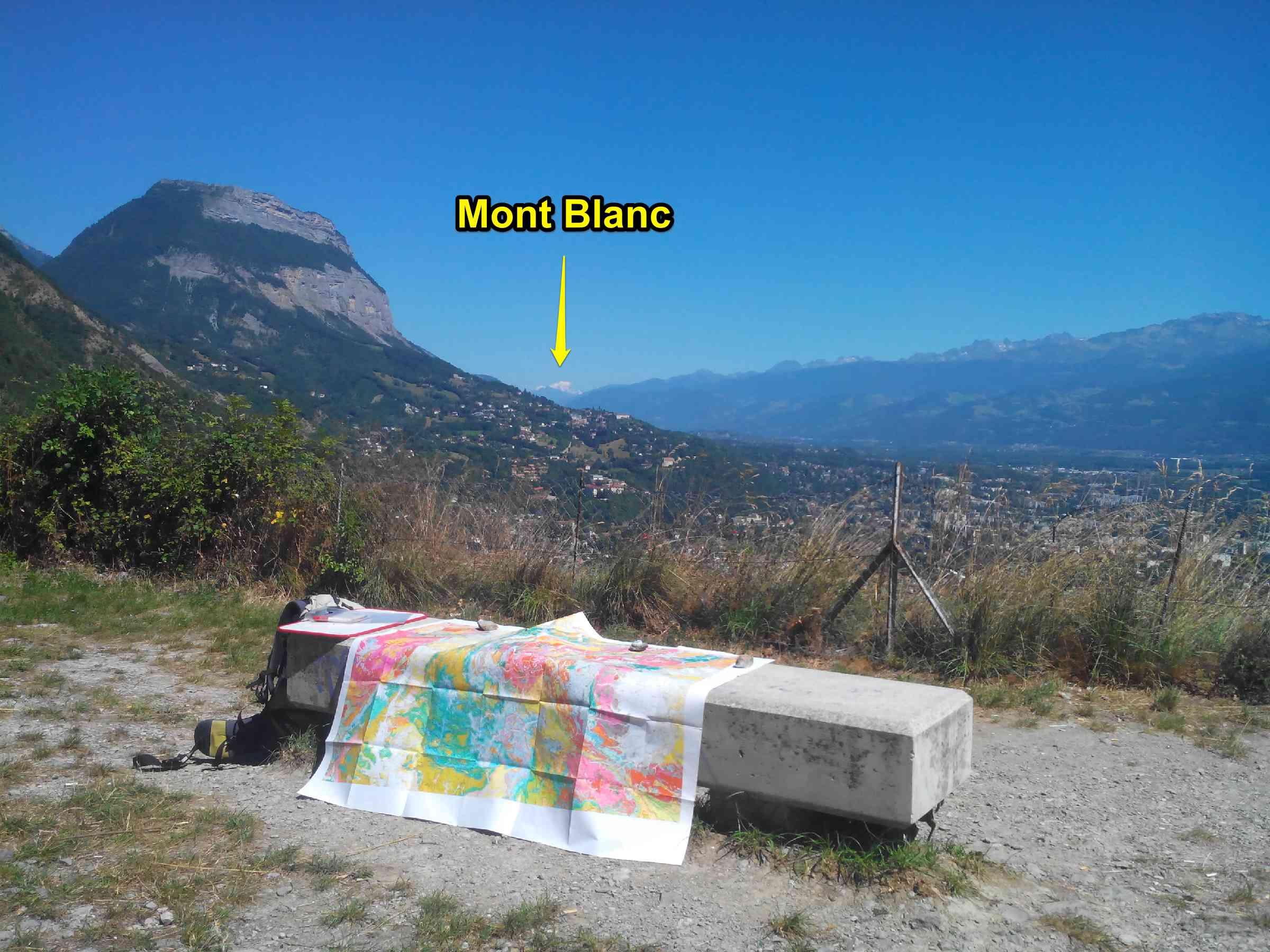 Panorama Grenoble Mont Blanc Alpes