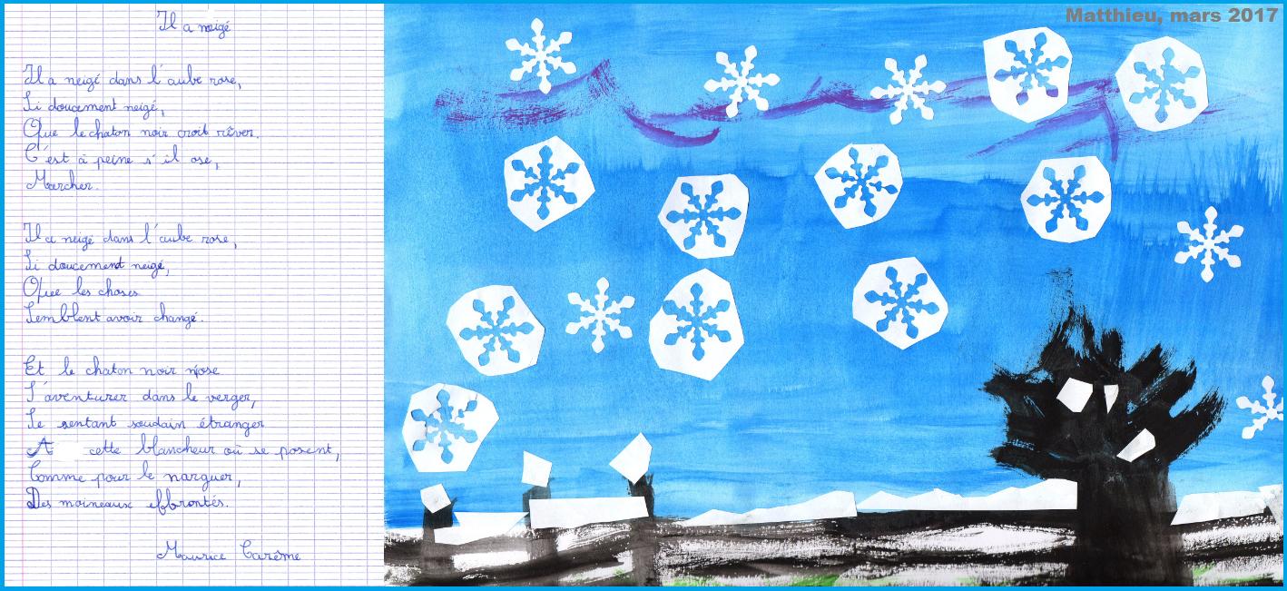 Poésie Il a neigé Maurice Carême