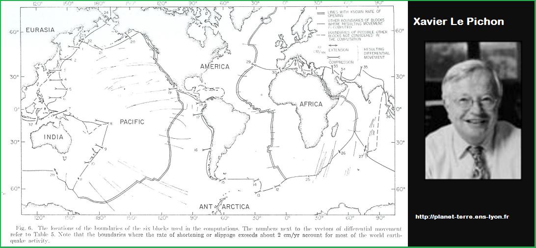 xavier le pichon svt 6 plaques tectoniques