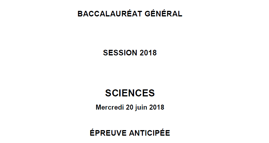 anticipée Sciences