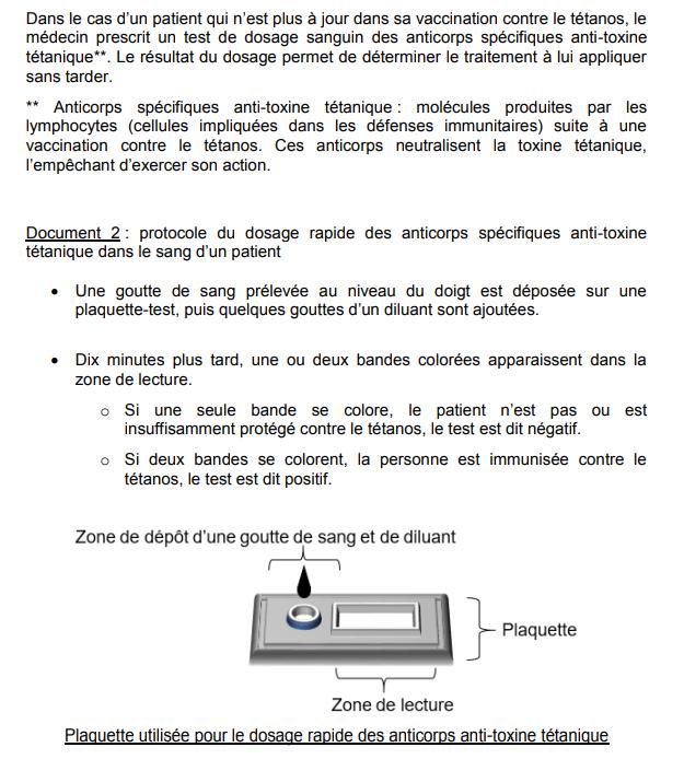 sujet SVT brevet des collèges métropole DNB 2