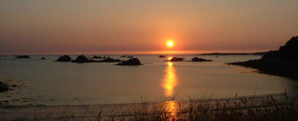 Un coucher de soleil, en Bretagne