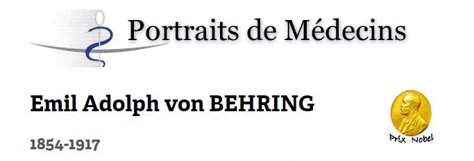 portrait de Behring