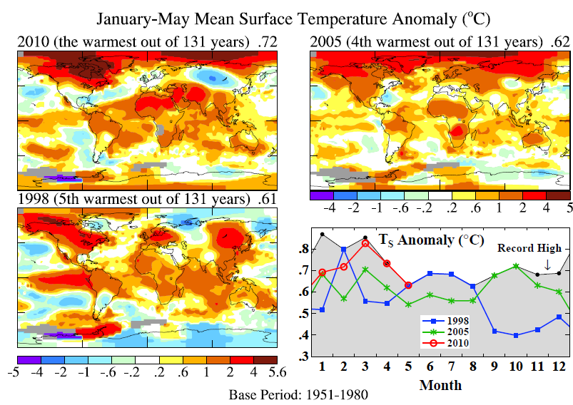 Année 2010 : la plus chaude depuis 130 ans ?