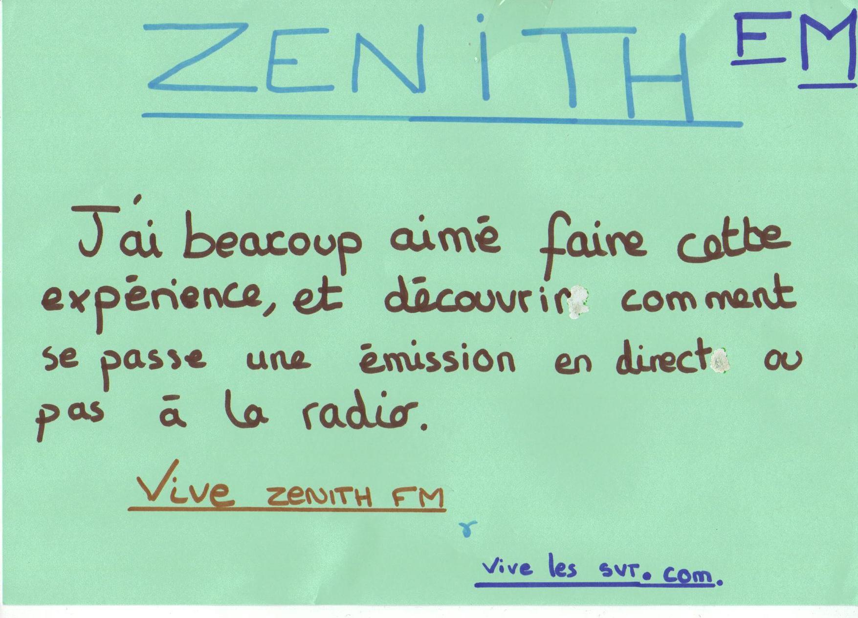 Rétro 2010 : les 3èmes à Zénith FM