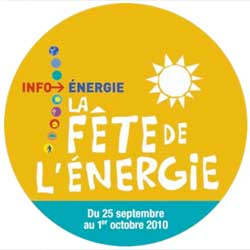 La fête de l'Energie du 25 au 1er octobre 2010