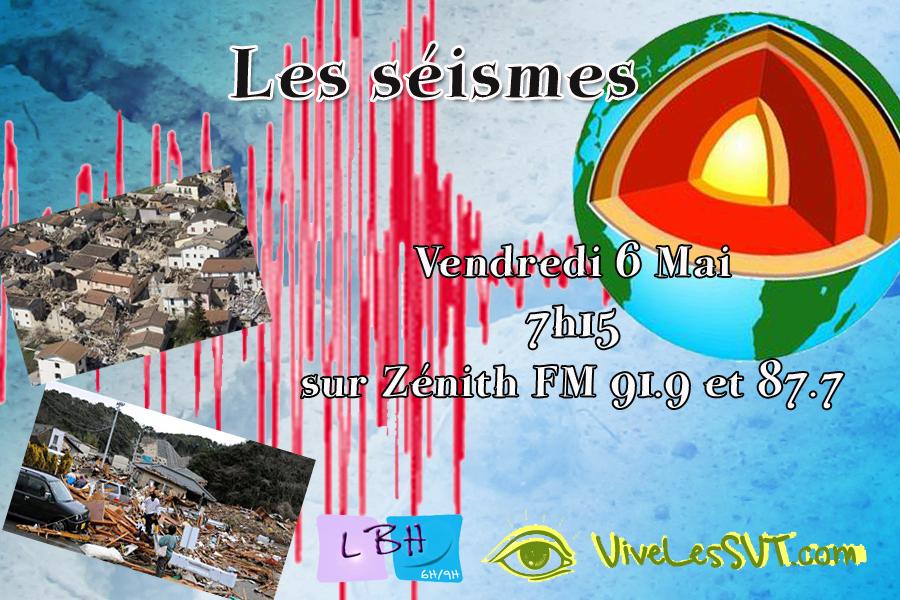 Les séismes sur Zénith Fm
