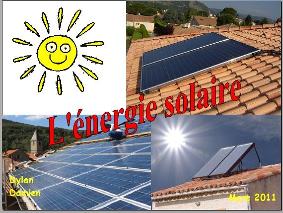 L'énergie solaire : panneaux photovoltaïques