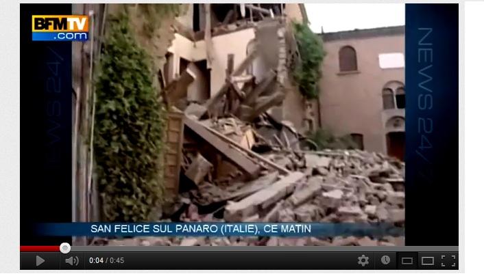 Séisme de magnitude 6 en Italie – 20 mai 2012