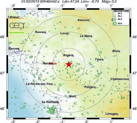 Un tremblement de terre entre Angers et Cholet