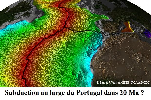 Subduction possible au large du Portugal