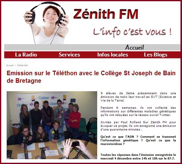 article zénith fm