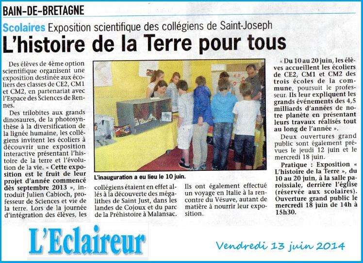 article l'Eclaireur Expo 2014
