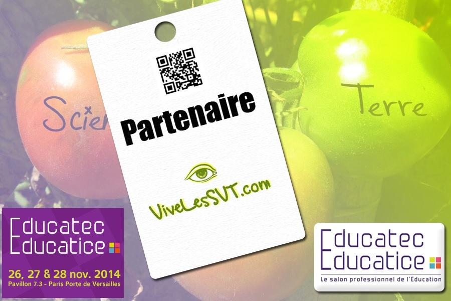 partenariat vivelesSVT salon de l'éducation Educatec Educatice