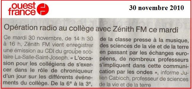ouest france zenith fm