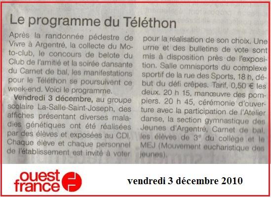 telethon 2010 ouest france
