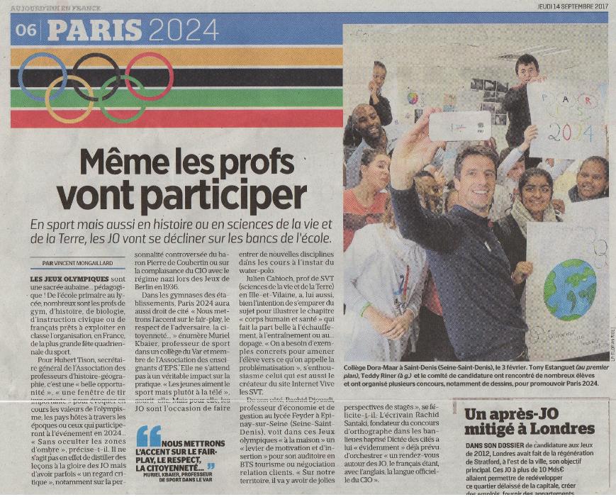 Le Parisien JO 2024 Julien cabioch SVT
