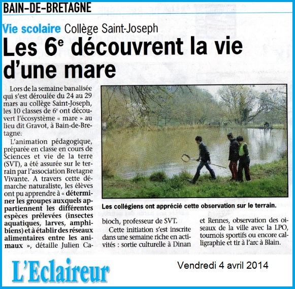 mare Eclaireur 2014