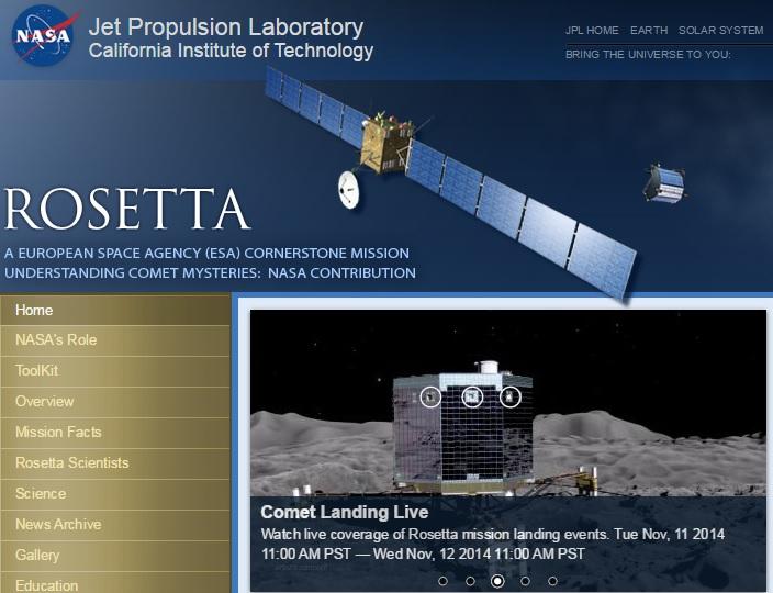 nasa Mission Rosetta