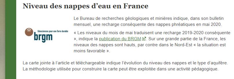 Articles de Julien Cabioch sur le portail Eduscol SVT