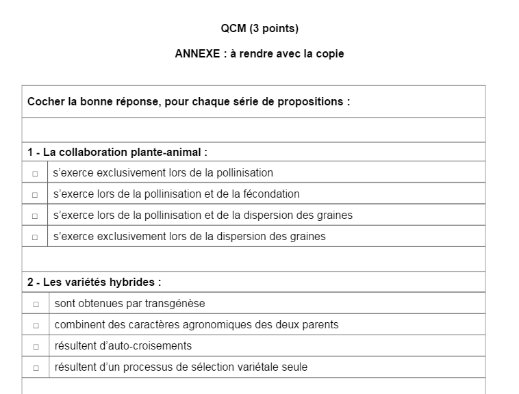 Sujet BAC s épreuve SVT Obligatoire métropole (2)
