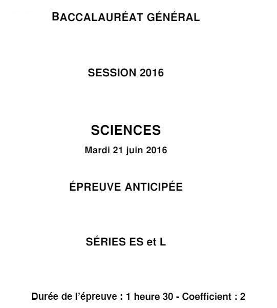 Sujet Bac Sciences ES L métropole 2016 (1)