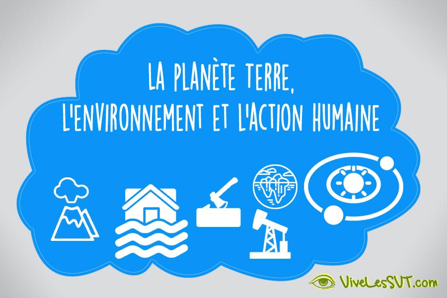 La planète Terre l'environnement et l'action humaine nouveaux programmes SVT cycle 4