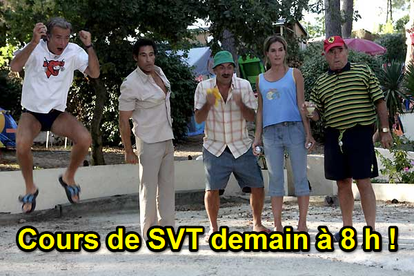 cours SVT camping