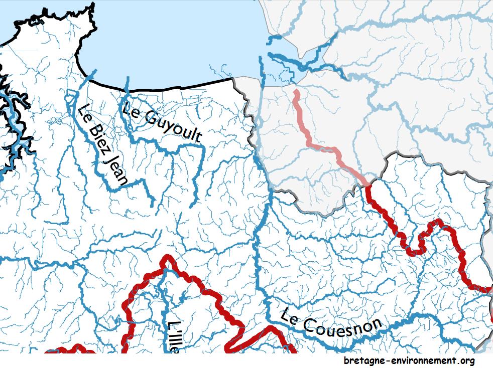 réseau hydrographique Mézières sur Couesnon
